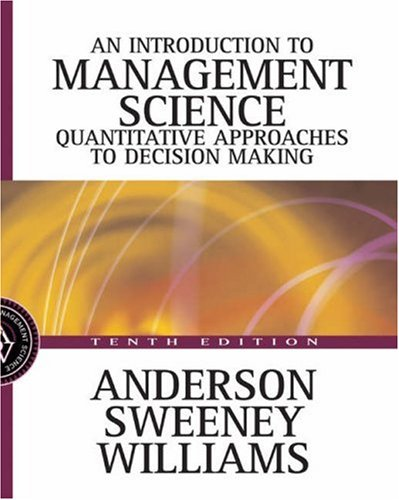 9780324145632: Introduction to Management Science: A Quantitative Approach to Decision Making with CD-ROM