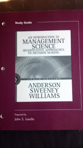 Study Guide to accompany Introduction to Management: David R. Anderson,