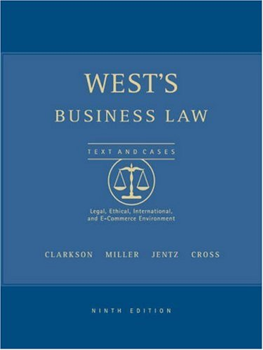 9780324154566: West's Business Law, Interactive CD-ROM