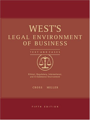 9780324154658: West's Legal Environment of Business