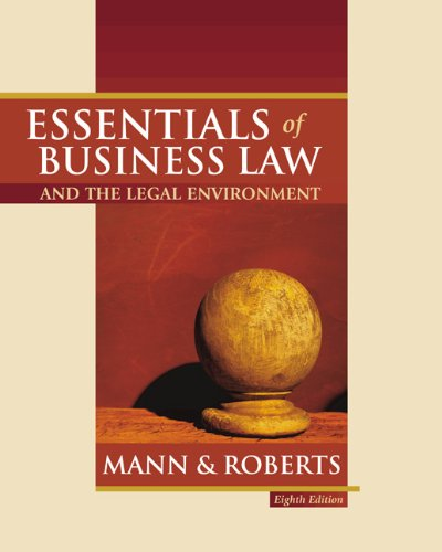 9780324154788: Essentials of Business Law and The Legal Environment