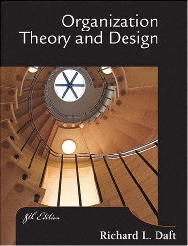 9780324156911: Organization Theory and Design