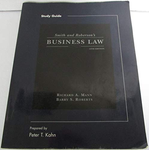9780324158540: Study Guide for Smith and Roberson's Business Law, 12th Edition