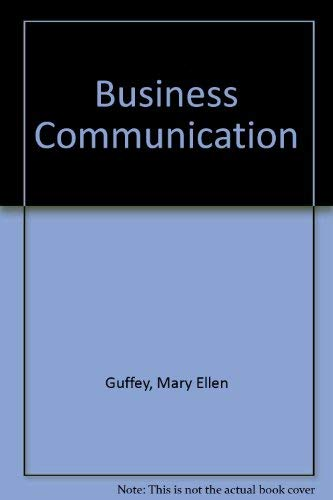 9780324161892: Business Communication: Process and Product