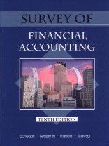 Survey of Financial Accounting (0324170173) by Benjamin, James; Strawser, Robert H.; Francia, Arthur J.; Schugart, Gary L.