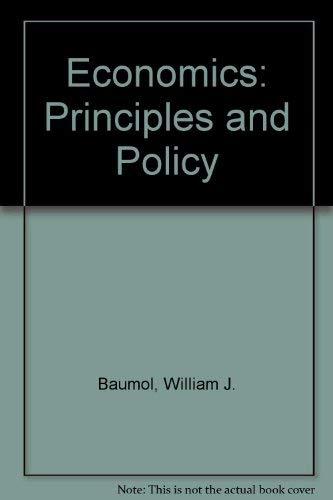 9780324173789: Economics: Principles and Policy
