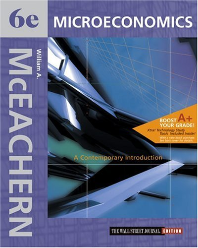 9780324179439: Microeconomics: A Contemporary Introduction Wall Street Journal Edition with X-tra! CD-ROM