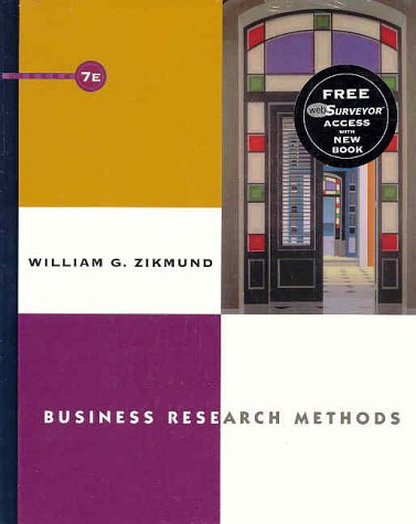 9780324182392: Business Research Methods with WebSurveyor Certificate