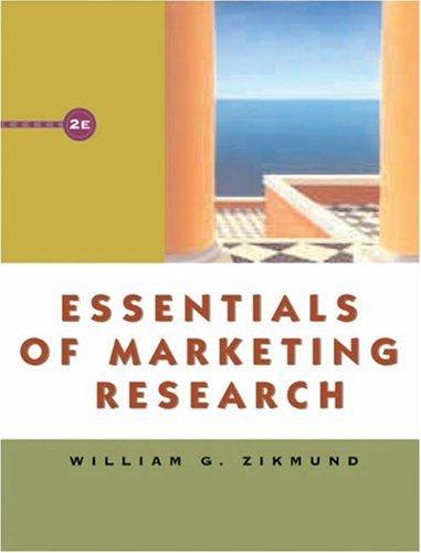 Essentials of Marketing Research (with WebSurveyor Certificate: William G. Zikmund
