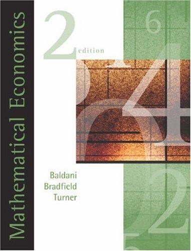 9780324183320: Mathematical Economics