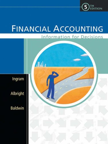 9780324183979: Financial Accounting: Information for Decisions