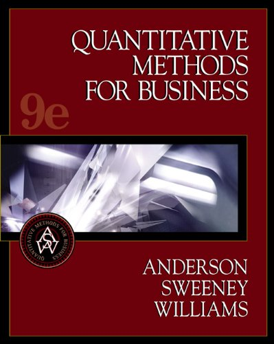 9780324184136: Quantitative Methods for Business, with CD-ROM, 9th edition