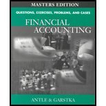 9780324184594: Questions, Exercises, Problems, and Cases for Financial Accounting (Masters Edition)
