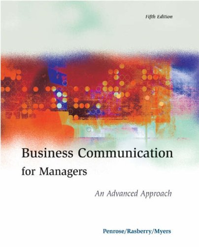 9780324186697: Business Communication for Managers: An Advanced Approach