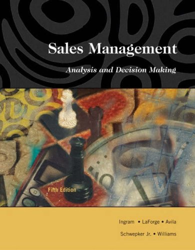 9780324191080: Sales Management: Analysis and Decision Making