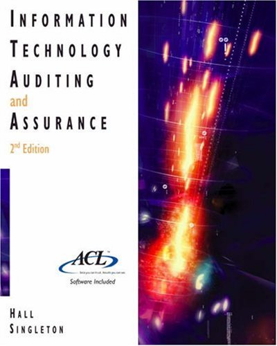 Information Technology Auditing and Assurance (with ACL Software): James A. Hall; Tommie Singleton