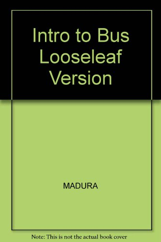 9780324200713: Intro to Bus Looseleaf Version