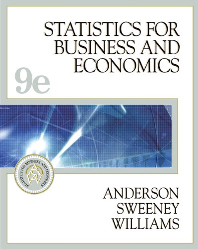 9780324200829: Statistics for Business and Economics (with CD-ROM and InfoTrac) (Available Titles CengageNOW)
