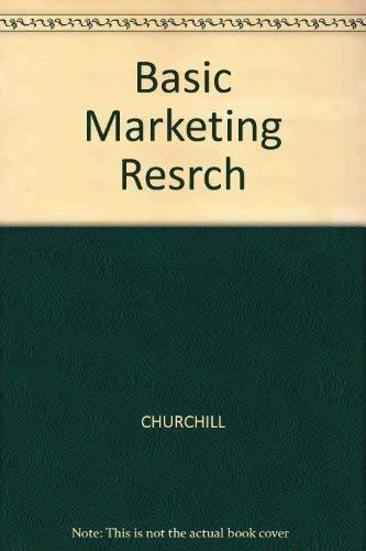 9780324200980: Basic Marketing Research