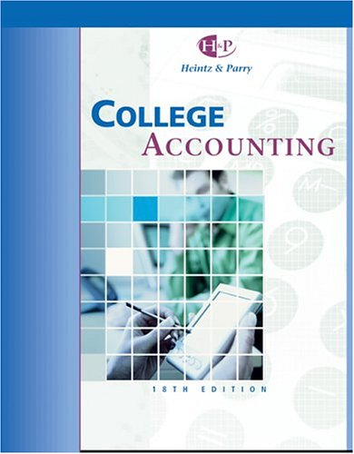 9780324201499: College Accounting, Chapters 1-16