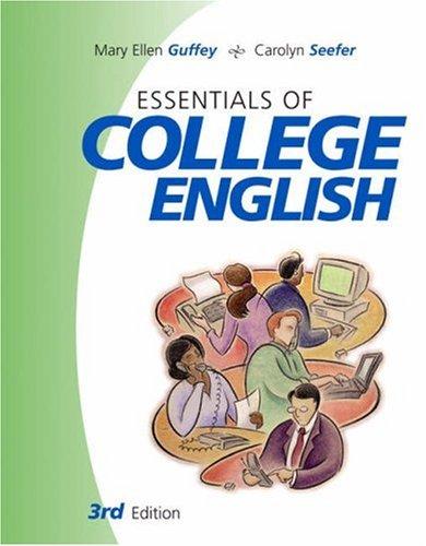 9780324201505: Essentials of College English