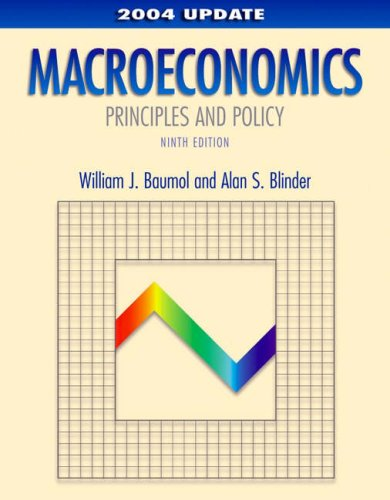 9780324201659: Macroeconomics: Principles and Policy, 2004 Update