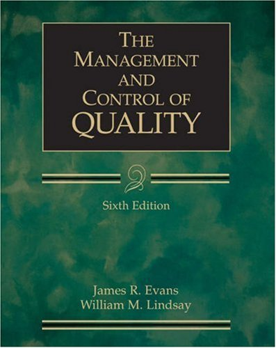 9780324202236: The Management and Control of Quality