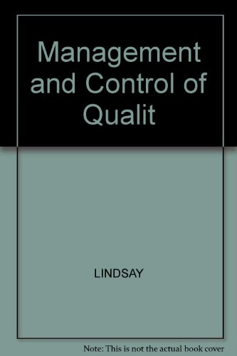 9780324202243: Management and Control of Quality