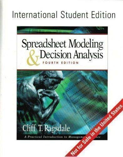 9780324203059: Spreadsheet Modeling and Decision Analysis: A Practical Introduction to Management Science