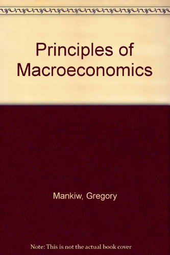 9780324203073: Principles of Macroeconomics