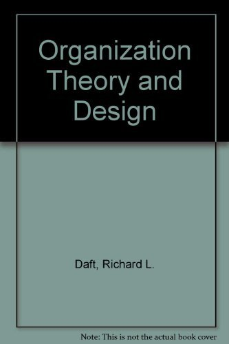9780324203530: Organization Theory and Design