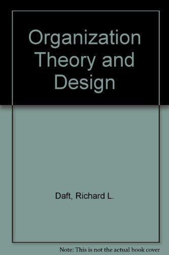 9780324203530: Organization Theory and Design