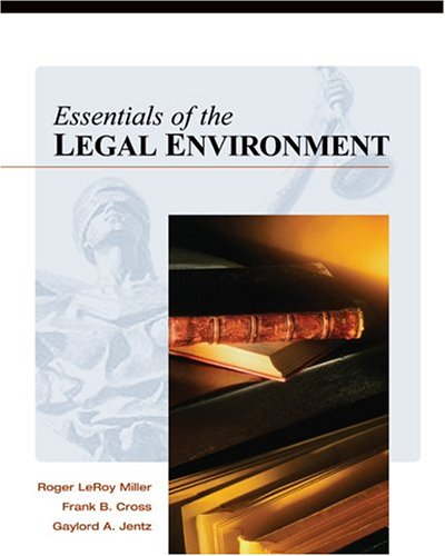 9780324203653: Essentials of the Legal Environment
