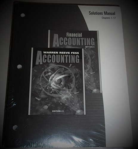 Accounting: Chapters 1-17: REEVE; FESS; WARREN