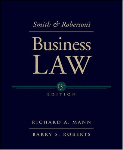 9780324204865: Smith and Roberson's Business Law (Smith & Roberson's Business Law)