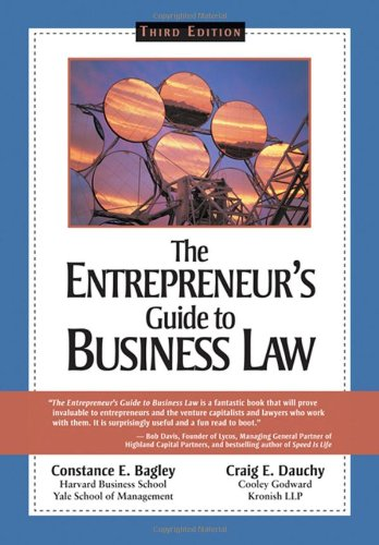9780324204933: Entrepren Gde to Bus Law (Entrepreneur's Guide to Business Law)