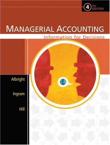 9780324222432: Managerial Accounting: Information for Decisions (with CD-ROM)