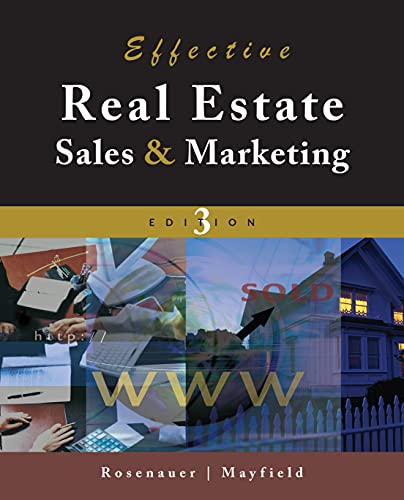 Effective Real Estate Sales And Marketing: Mayfield, John D.,