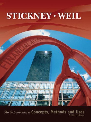 Financial Accounting: Introduction to Concepts, Methods and: Clyde P. Stickney,