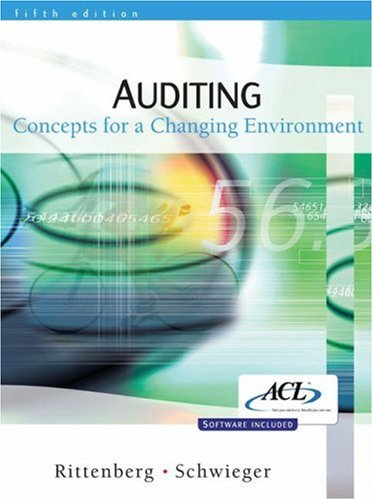 9780324223101: Auditing: Concepts for a Changing Environment
