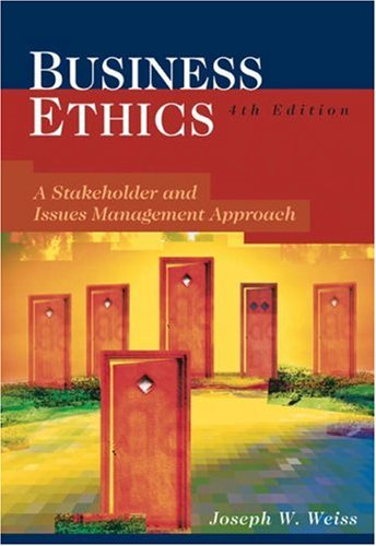 9780324223804: Business Ethics: Stakeholder and Issues Management Approach