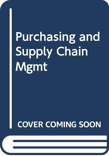 9780324224191: Purchasing and Supply Chain Mgmt