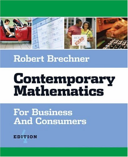 9780324224221: Contemporary Mathematics for Business and Consumers (with CD-ROM)