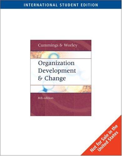 9780324225105: Organization Development and Change