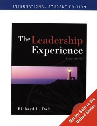 9780324225167: Ise Leadership Experience (International Student Edition)