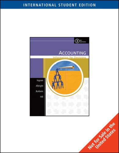 Accounting: Information For Decisions: Ingram, Robert W.