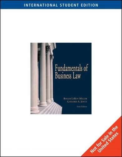 9780324225396: Fundamentals of Business Law