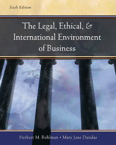 9780324225419: Legal, Ethical and International Environment of Business: With Infotrac