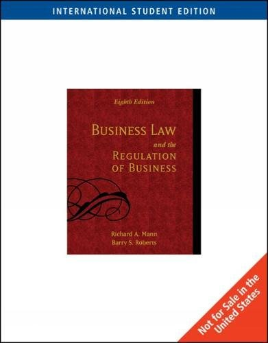 9780324225457: Business Law and the Regulation of Business