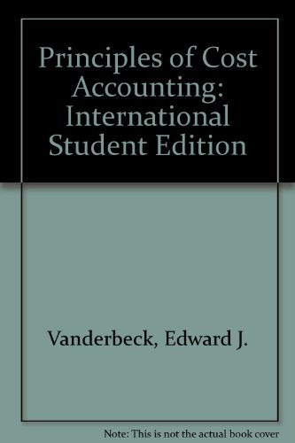 9780324225471: Principles of Cost Accounting